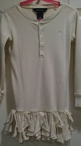 Cream colored Ralph Lauren girls long sleeve shirt